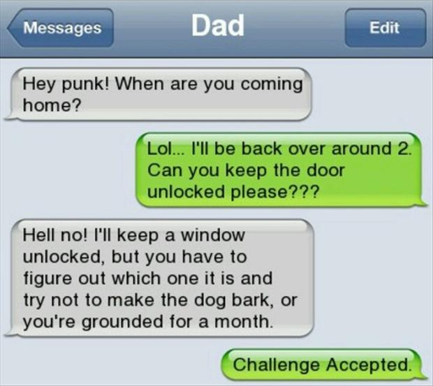 challenge accepted, text message