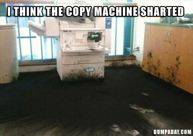 copy machine exploded