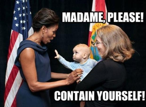 cute baby, meets first lady, funny pictures