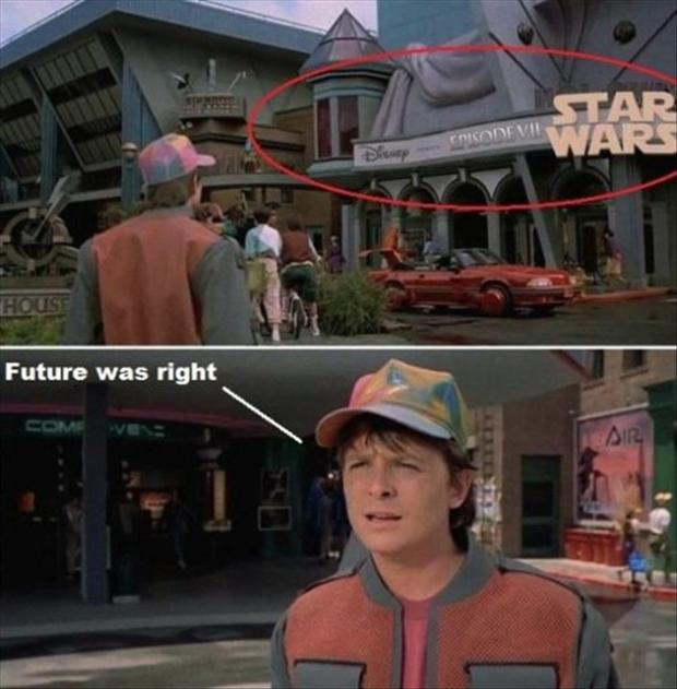 disney star wars, back to the future