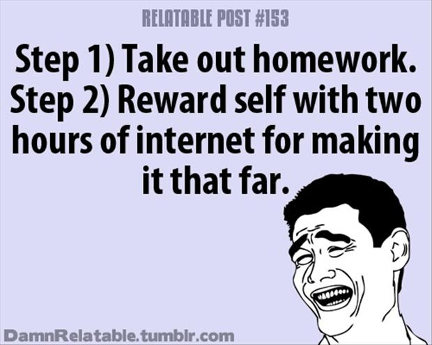 doing your homework, funny quotes