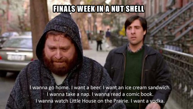finals week in a nut shell