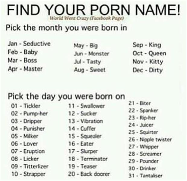 find your porn name