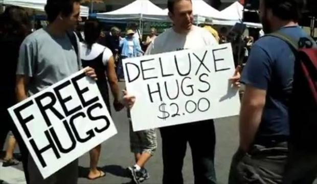 free hugs, funny pictures