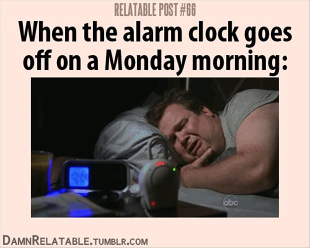 funny alarm clock Monday morning
