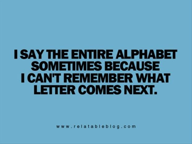funny alphabet quotes
