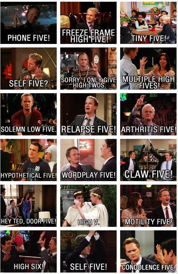 funny barney stinson high fives