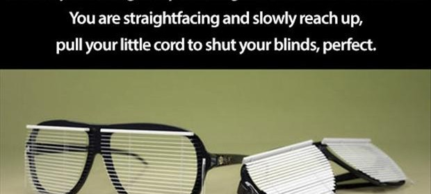 funny blinds glasses