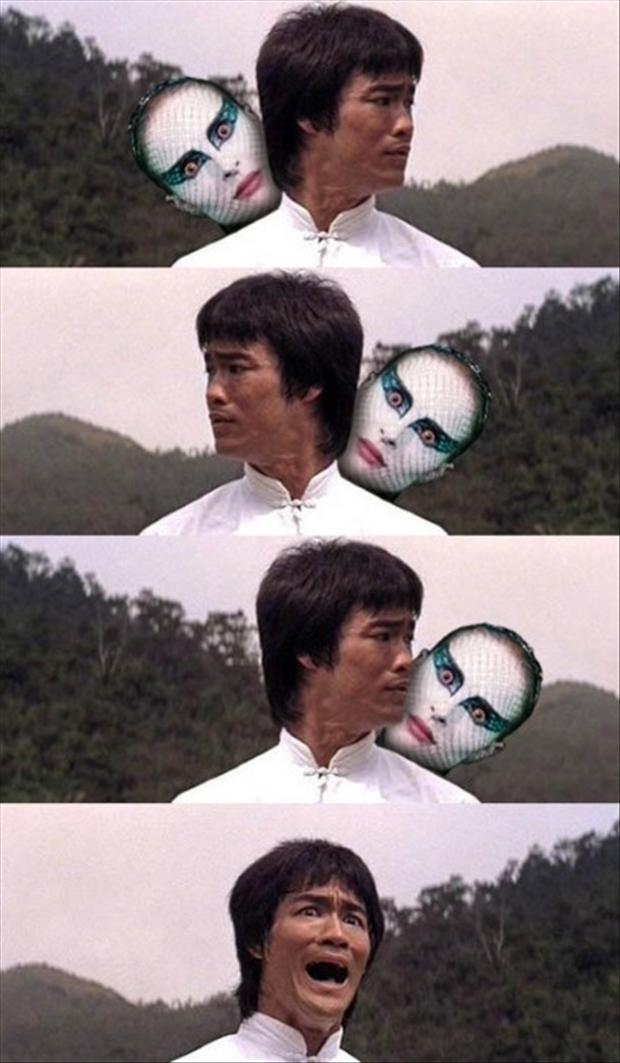 funny bruce lee pictures