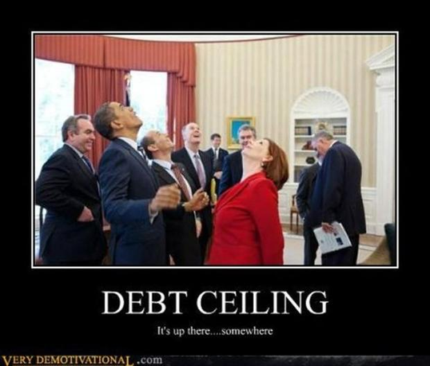 funny demotivational posters, america's debt