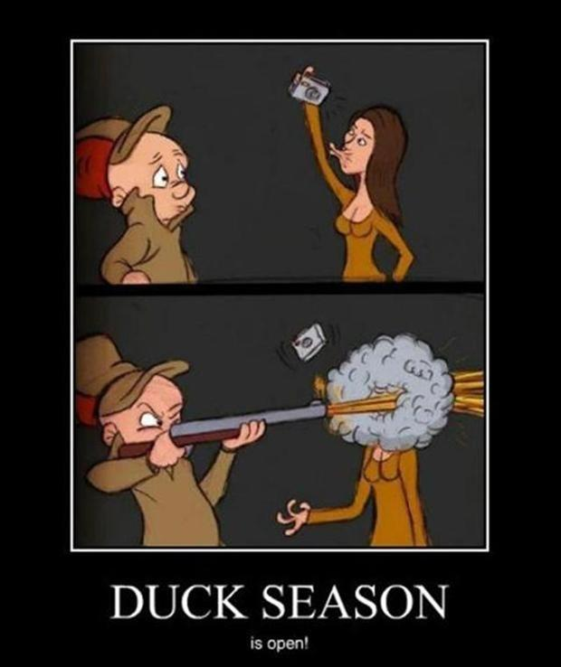 funny demotivational posters, duck season
