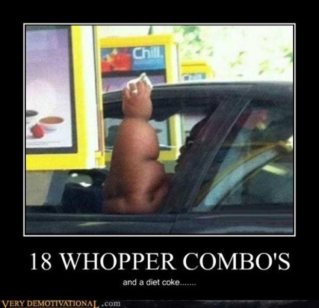 funny demotivational posters, fast food