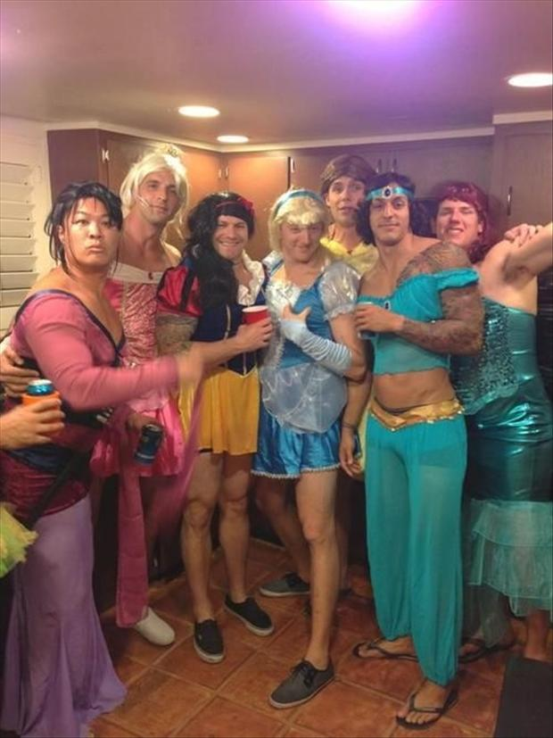 funny disney princesses, men dressed in drag