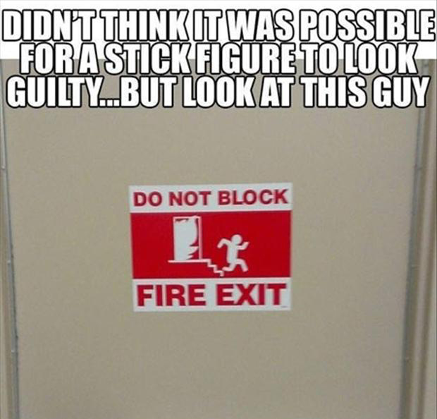 funny exit signs