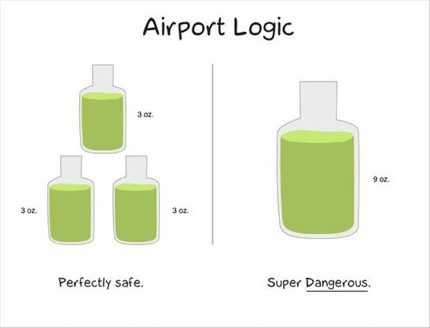 funny pictures, airport logic, liquid