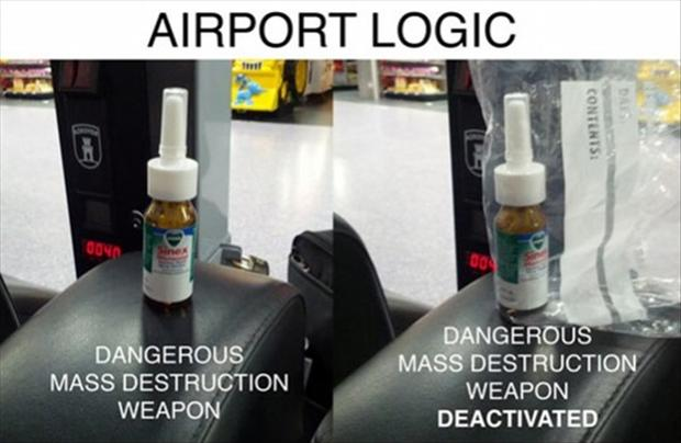 funny pictures, airport logic