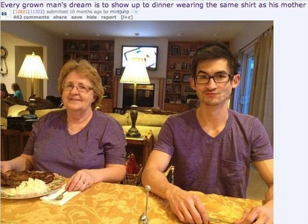 funny pictures, awkward moments, wearing your mom's clothes