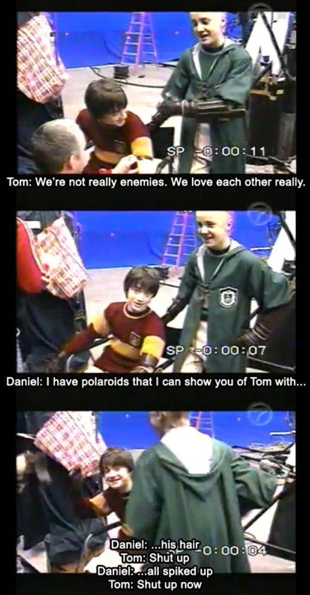 funny pictures, behind the scenes of harry potter