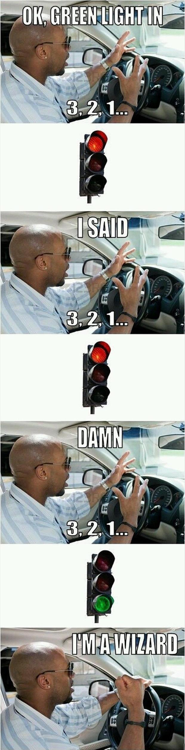 funny pictures, green light