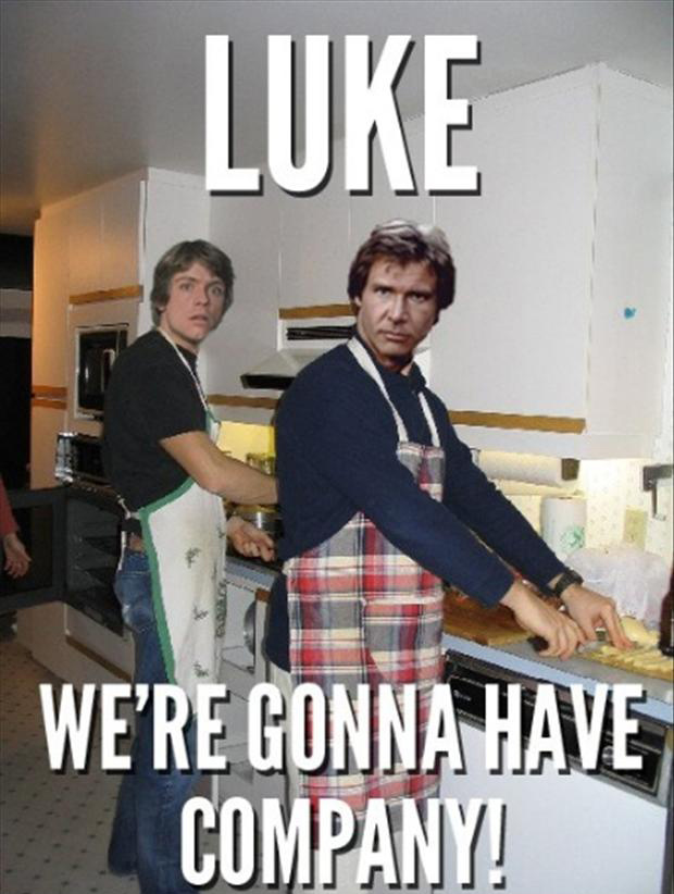 funny pictures, han solo and luke skywalker
