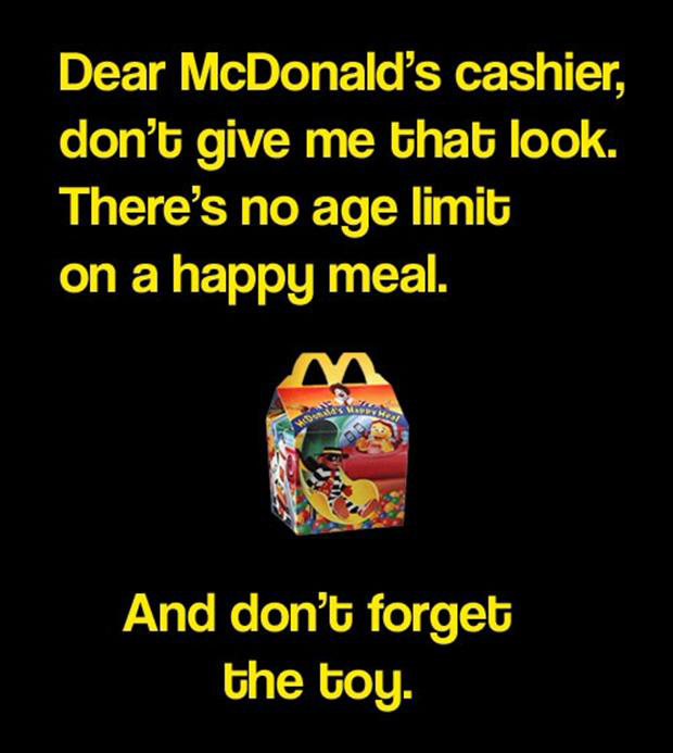 funny pictures, mcdonalds happy meal