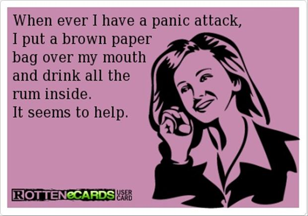 funny pictures, panic attack