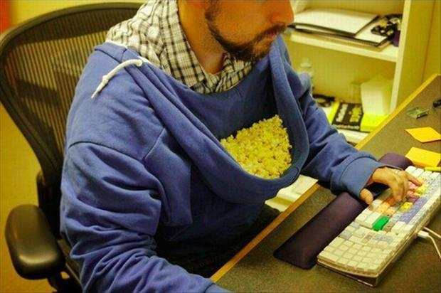funny pictures, popcorn
