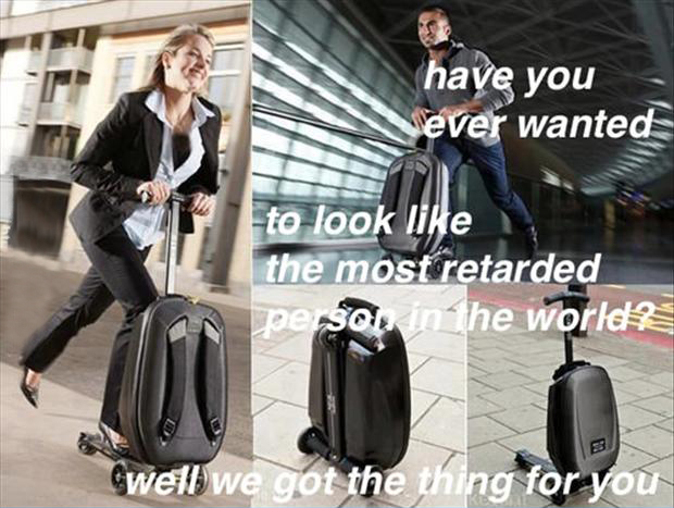 funny pictures, suit case for traveling in the airport