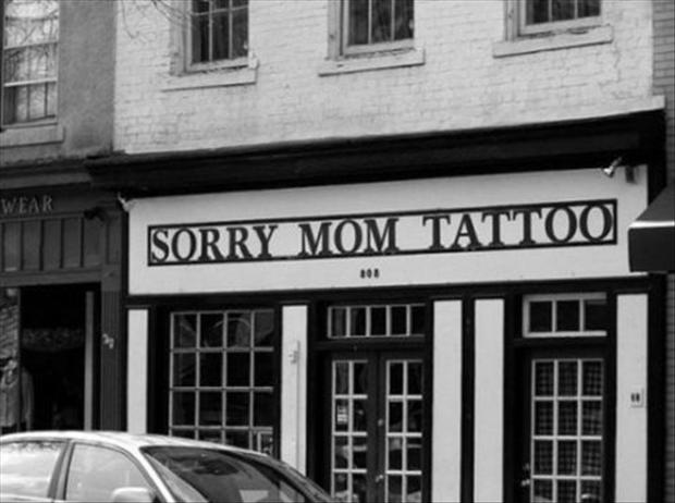 funny pictures, tattoo shop