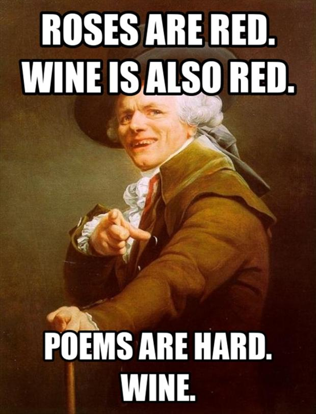 funny poems, wine