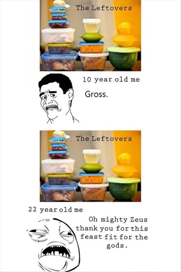 funny rage comics, left over food