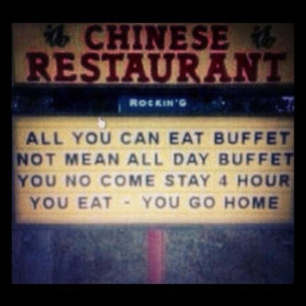 funny signs, buffet