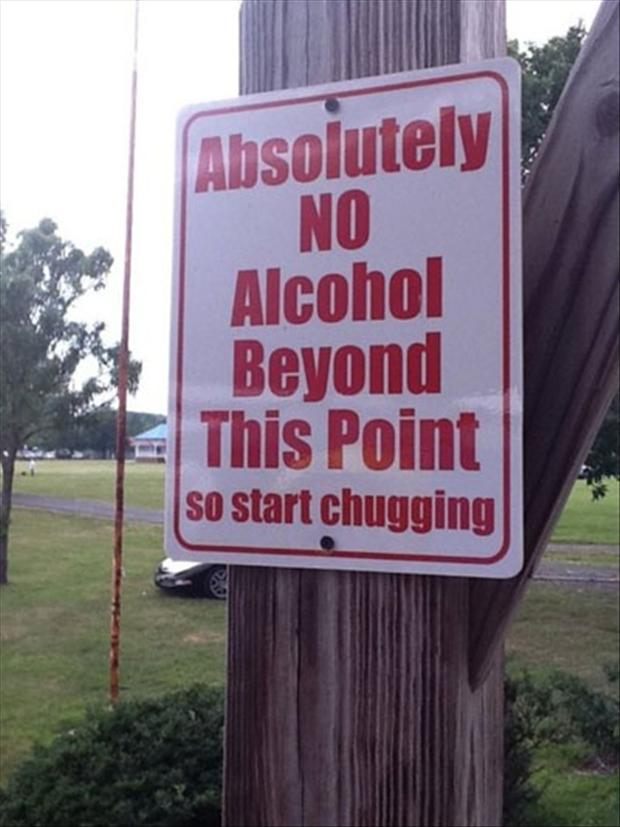 Funny Signs Drinking