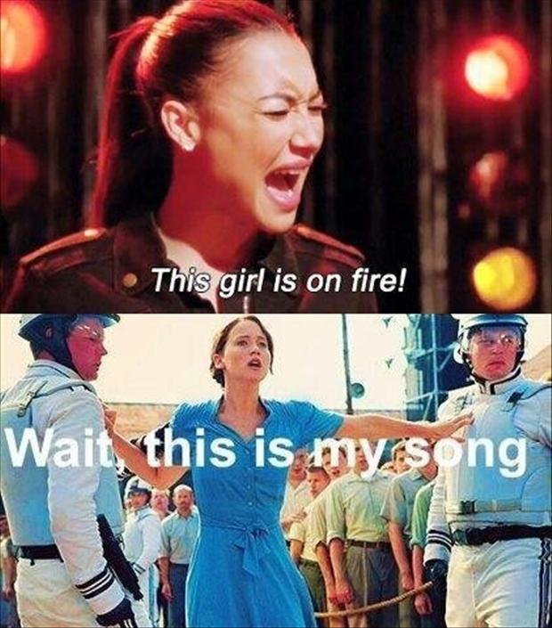 funny songs, this girl is on fire