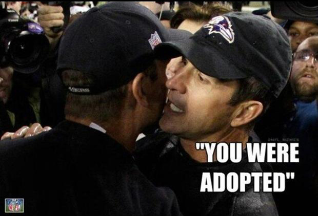 funny super bowl pictures, brothers are coaches