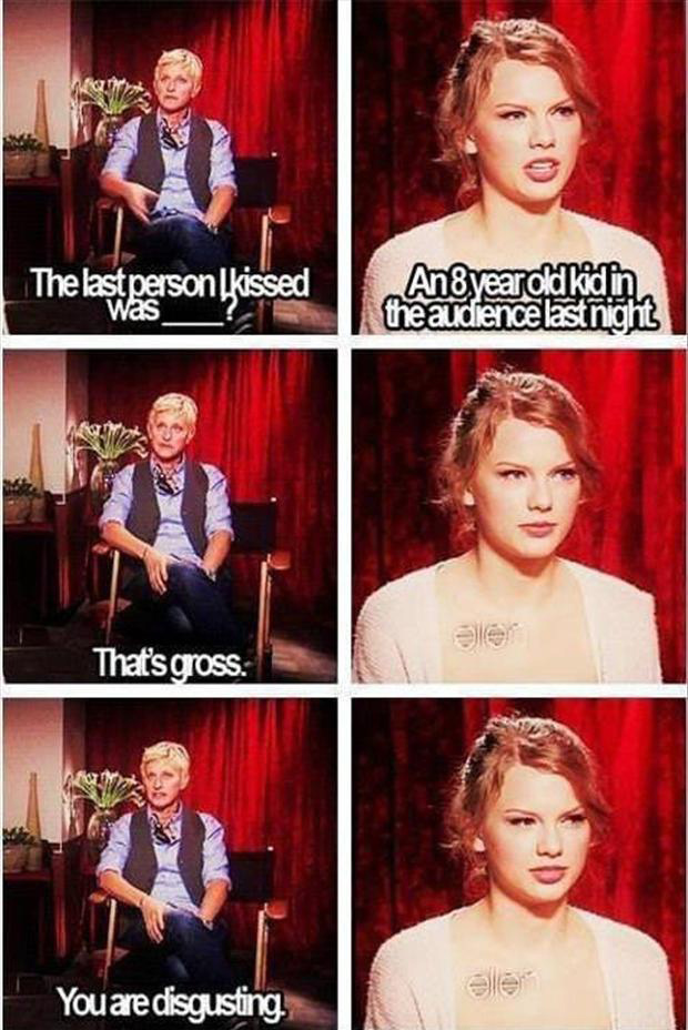 funny taylor swift on ellen degeneres