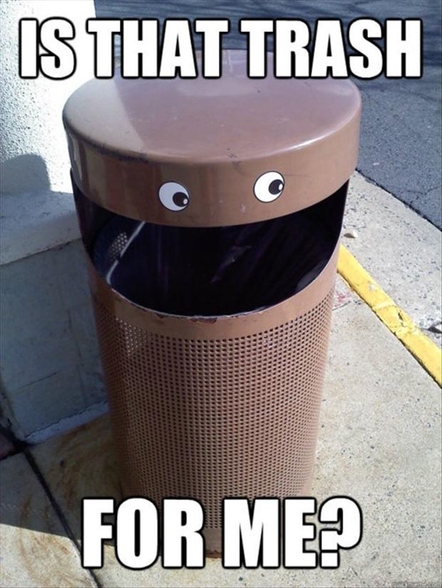 funny trash cans
