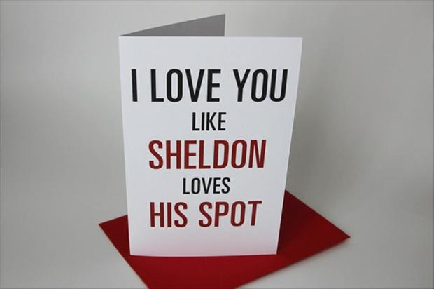 funny valentine's day cards, sheldon cooper