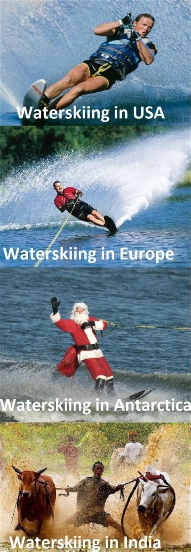 funny waterskiing