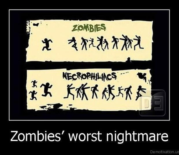 funny zombie pictures, demotivational posters