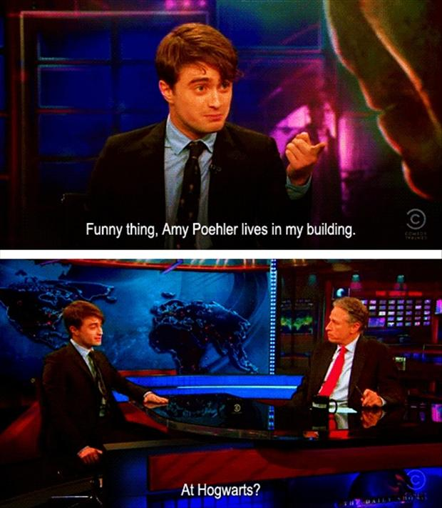 harry potter on jon stewart show