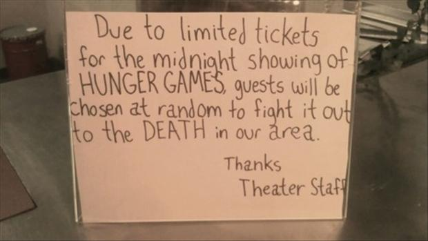 hunger games, funny notes