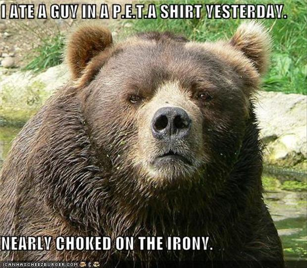 i ate a guy in a peta shirt yesterday, funny pictures
