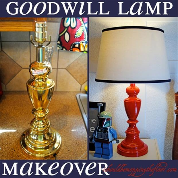 lamp make over craft ideas