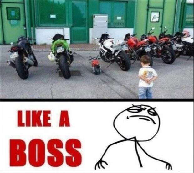 like a boss, bikers