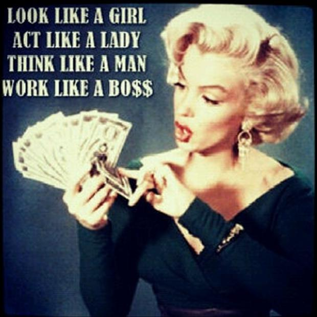 like a boss, marylin monroe quotes