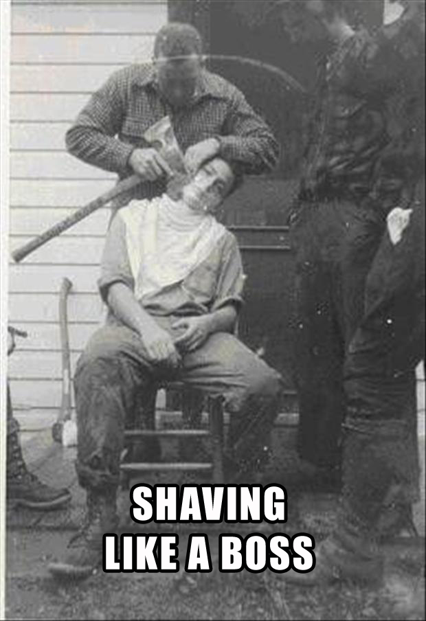 like a boss, shaving