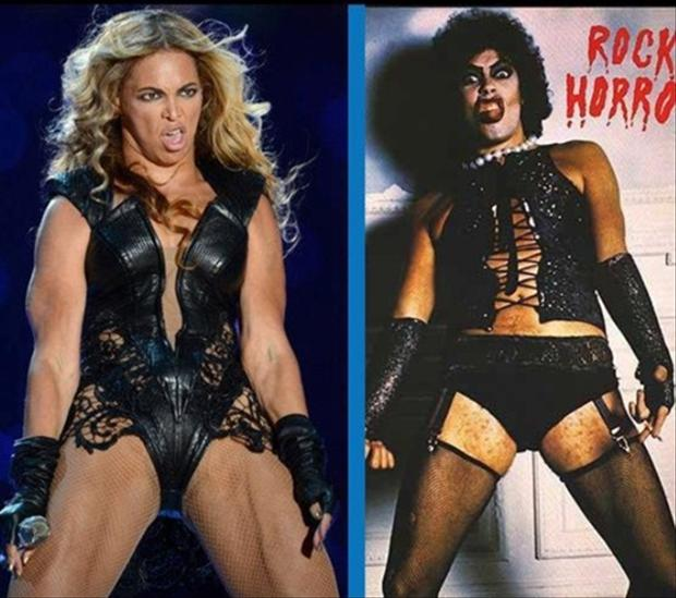 looks like, beyonce, funny super bowl pictures