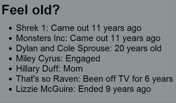 make you feel old, funny facts