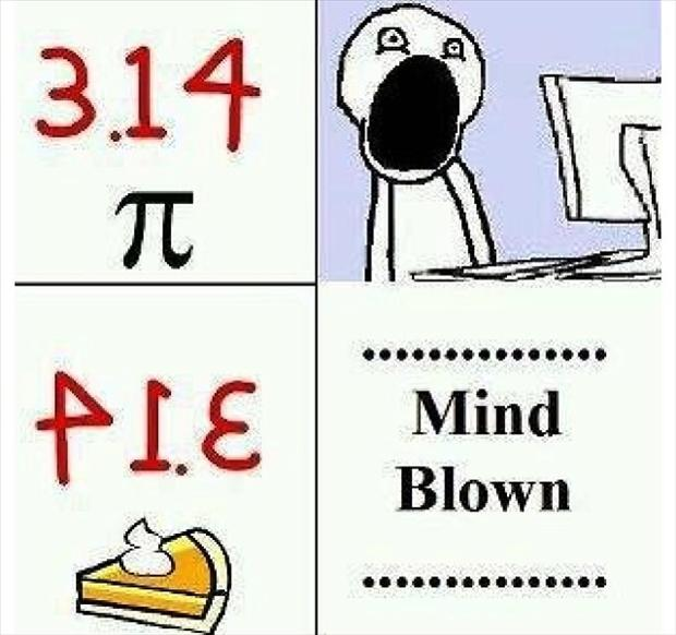 mind blown meme, pie